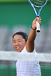 Yui Kamiji (JPN), <br /> SEPTEMBER 12, 2016 - Wheelchair Tennis : <br /> Women's Singles Semi Final Marjolein Buis 0-2 Yui Kamiji <br /> at Olympic Tennis Centre<br /> during the Rio 2016 Paralympic Games in Rio de Janeiro, Brazil.<br /> (Photo by AFLO SPORT)