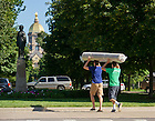 Aug. 23, 2013; Move-in day 2013<br /> <br /> Photo by Matt Cashore/University of Notre Dame