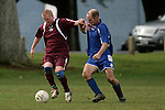 Pukekohe Mens Over 35's vs Waiuku football game played at Bledisloe Park Pukekohe on Saturday May 10th 2008. Pukekohe won 3 - 0.