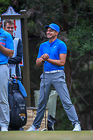 Julian Suri (USA) shares a laugh on the 14th tee during Round 3 of the Valero Texas Open, AT&amp;T Oaks Course, TPC San Antonio, San Antonio, Texas, USA. 4/21/2018.<br /> Picture: Golffile   Ken Murray<br /> <br /> <br /> All photo usage must carry mandatory copyright credit (&copy; Golffile   Ken Murray)