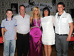 Danielle Moore from Clonalvy celebrating her 21st birthday in the Star and Crescent with parents Charlie and Brenda and brothers Wayne and Dean. Photo: www.colinbellphotos.com