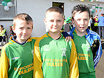 Adam Herran, Kyle Byrne and Cian O'Hare who took part in the Inaugural Duleek schoolboy/girl soccer club 5k Run/Walk. Photo:Colin Bell/pressphotos.ie