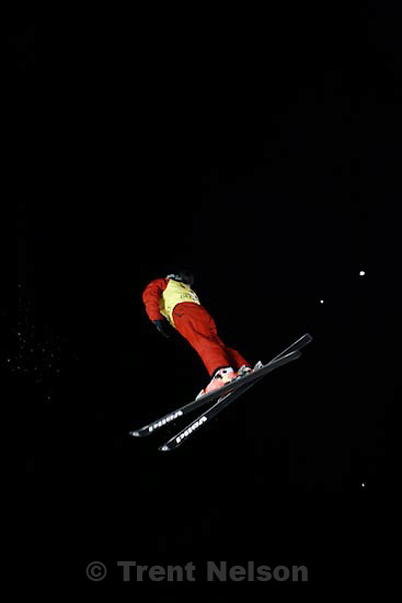 Trent Nelson  |  The Salt Lake Tribune.Xinxin Guo, China, Aerials competition at the FIS Freestyle World Cup at Deer Valley, Friday, January 15, 2010.