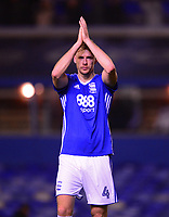 Marc Roberts of Birmingham claps of the fans after the Sky Bet Championship match between Birmingham City and Sunderland at St Andrews, Birmingham, England on 30 January 2018. Photo by Bradley Collyer / PRiME Media Images.