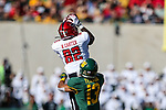 Texas Tech Red Raiders wide receiver KeSean Carter (82) in action during the game between the Texas Tech Red Raiders and the Baylor Bears at the McLane Stadium in Waco, Texas.