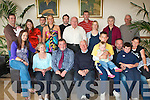 BIRTHDAY BOY: Shane Conway, The Kerries celebrating his 31st birthday with large group of family and friends at Kerins O'Rahilly's clubhouse on Sunday seated l-r: Orla, Cora, Shane, John, Jack, Nina, Ken, Gearo?id and Molly Conway. Back l-r: Ronan, Cathli?n and Rowena Conway, Derek Coffey, Claire, Aidan, Richard, Eoin and Katie Conway and Rosalie and Neville Duncan..   Copyright Kerry's Eye 2008