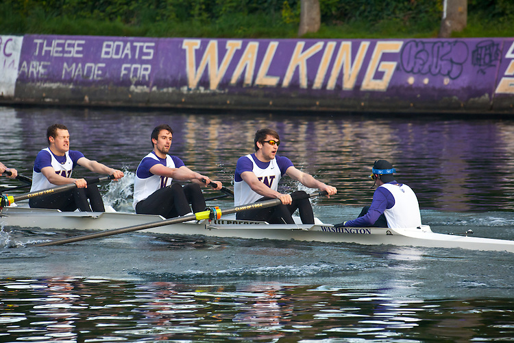 Rowing, Seattle, The Husky Open, April 4 2015, rowing regatta, Montlake Cut, University of Washington, Mens Second Varsity eight, College M 2V8, crew, Washington State, Pacific Northwest,