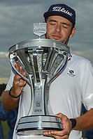 Lanto Griffin (USA) lifts the trophy for winning the 2019 Houston Open, Golf Club of Houston, Houston, Texas, USA. 10/13/2019.<br /> Picture Ken Murray / Golffile.ie<br /> <br /> All photo usage must carry mandatory copyright credit (© Golffile | Ken Murray)