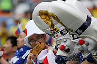 SARANSK - RUSIA, 19-06-2018: Hinchas de Japón animan a su equipo previo al partido de la primera fase, Grupo H, entre Colombia y Japón por la Copa Mundial de la FIFA Rusia 2018 jugado en el estadio Mordovia Arena en Saransk, Rusia. / Fans of Japan cheer for their team prior the match between Colombia and Japan of the first phase, Group H, for the FIFA World Cup Russia 2018 played at Mordovia Arena stadium in Saransk, Russia. Photo: VizzorImage / Cont