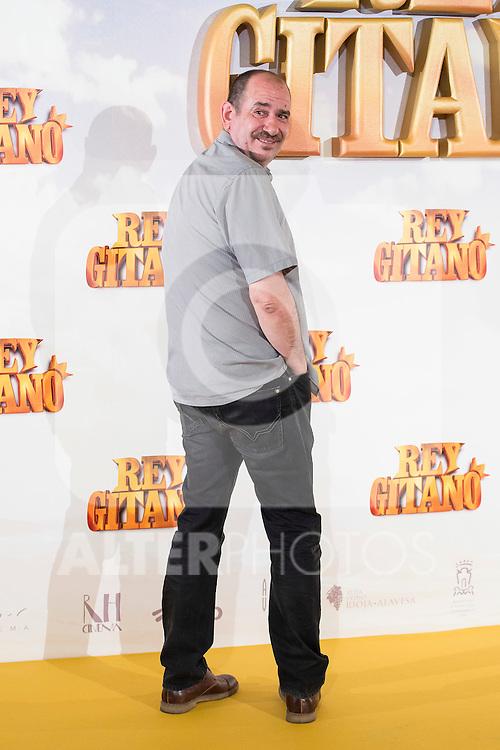 """Actor Karra Elejalde pose during """"Rey Gitano"""" film presentation at Palafox Cinemas in Madrid, Spain. July 09, 2015.<br />  (ALTERPHOTOS/BorjaB.Hojas)"""