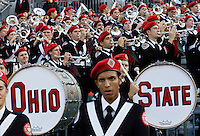 The Ohio State marching band plays during the fourth quarter of the NCAA football game against the Hawaii Warriors at Ohio Stadium in Columbus on Sept. 12, 2015. (Adam Cairns / The Columbus Dispatch)