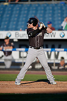 Charlotte Knights Zack Collins (8) bats during an International League game against the Syracuse Mets on June 11, 2019 at NBT Bank Stadium in Syracuse, New York.  Syracuse defeated Charlotte 15-8.  (Mike Janes/Four Seam Images)