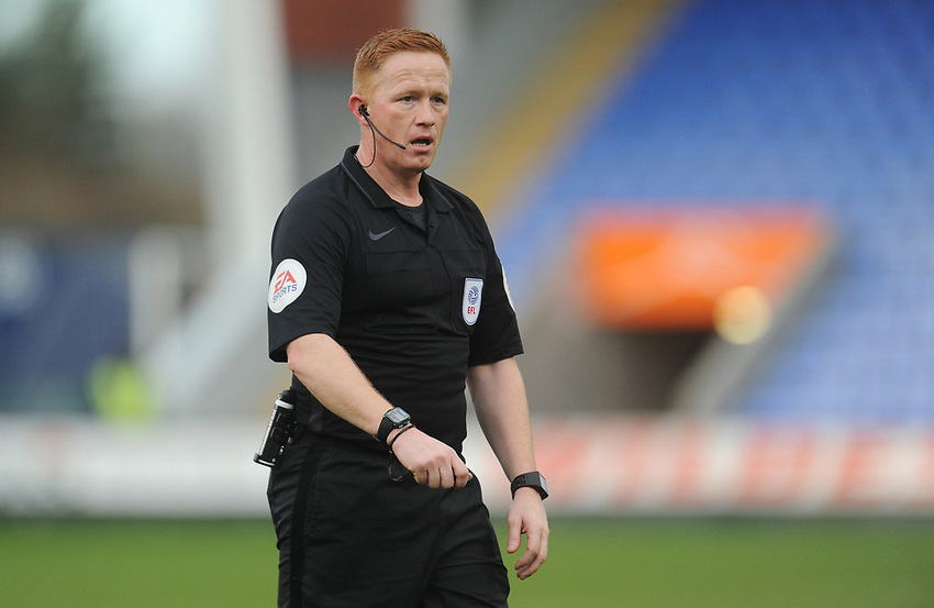 Referee Alan Young<br /> <br /> Photographer Kevin Barnes/CameraSport<br /> <br /> The EFL Sky Bet League One - Shrewsbury Town v Fleetwood Town - Tuesday 1st January 2019 - New Meadow - Shrewsbury<br /> <br /> World Copyright © 2019 CameraSport. All rights reserved. 43 Linden Ave. Countesthorpe. Leicester. England. LE8 5PG - Tel: +44 (0) 116 277 4147 - admin@camerasport.com - www.camerasport.com