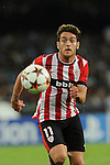 Ibai Gomez of Athletic during the match between SSC Napoli and Athletic Club Bilbao, play-offs First leg Champions League at the San Paolo Stadium onTuesday August 19, 2014 in Napoli, Italy. (Photo by Marco Iorio)<br />