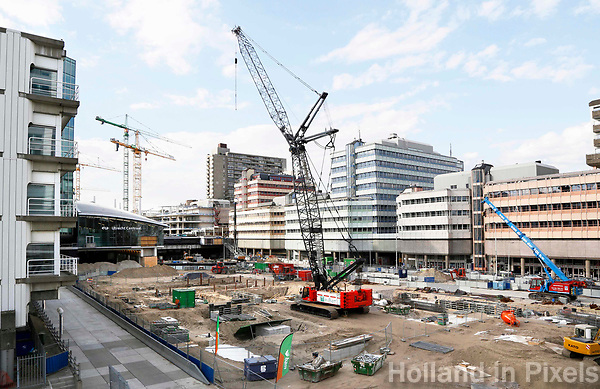 Nederland Utrecht 2017. Hoog Catharijne. Bouwwerkzaamheden bij Centraal Station.    Foto Berlinda van Dam / Hollandse Hoogte