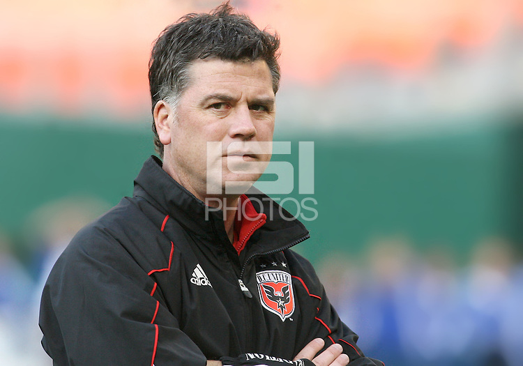 Assistant coach Kris Kelderman of D.C. United during an MLS match against the Chicago Fire on April 17 2010, at RFK Stadium in Washington D.C. Fire won 2-0.