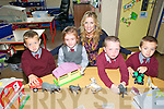Kilconly NS : Miss Aoife Walsh's Class in Kilconly NS.L - R : Leigh Meehan, Marian Fitzsimons, Miss Aoife Walsh, Kevin Cullen & Aaran Moriarity.