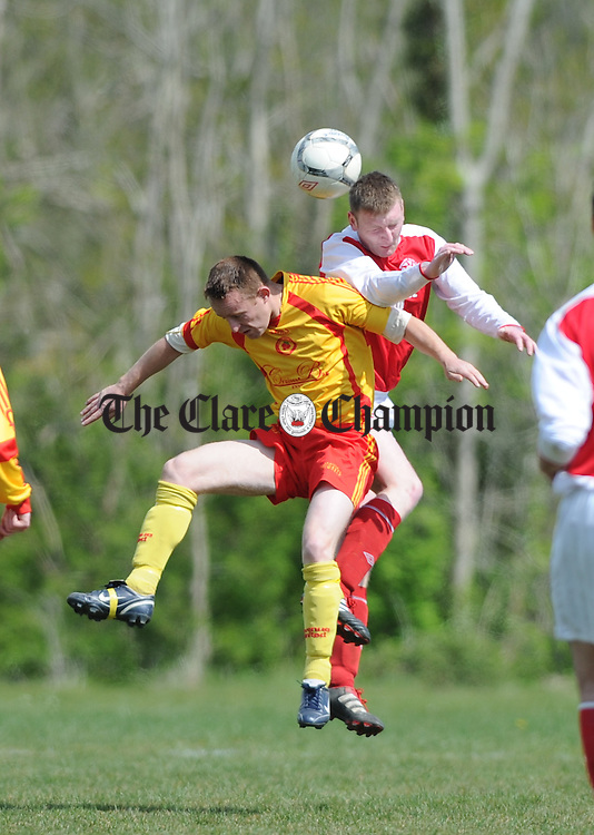 XXX of Avenue United in action against XXX of Newmarket during their game at Lees road. Photograph by John Kelly.