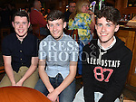 James Toris, Conal and Caoimhin Matthews pictured at the Lannleire Awards night at the Dunleer Inn. Photo:Colin Bell/pressphotos.ie