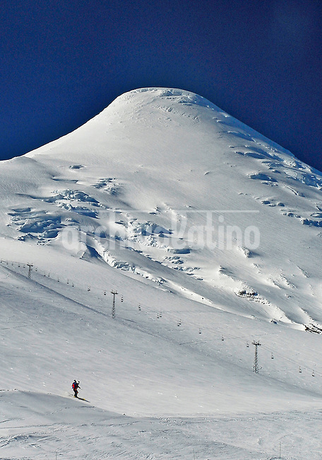 Ski in Osorno Volcano, Llanquihue region, South of Chile