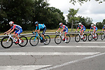 Groupama-FDJ control the peloton during Stage 2 of the Route d'Occitanie 2019, running 187.7km from Labruguière to Martres-Tolosane, France. 21st June 2019<br /> Picture: Colin Flockton | Cyclefile<br /> All photos usage must carry mandatory copyright credit (© Cyclefile | Colin Flockton)