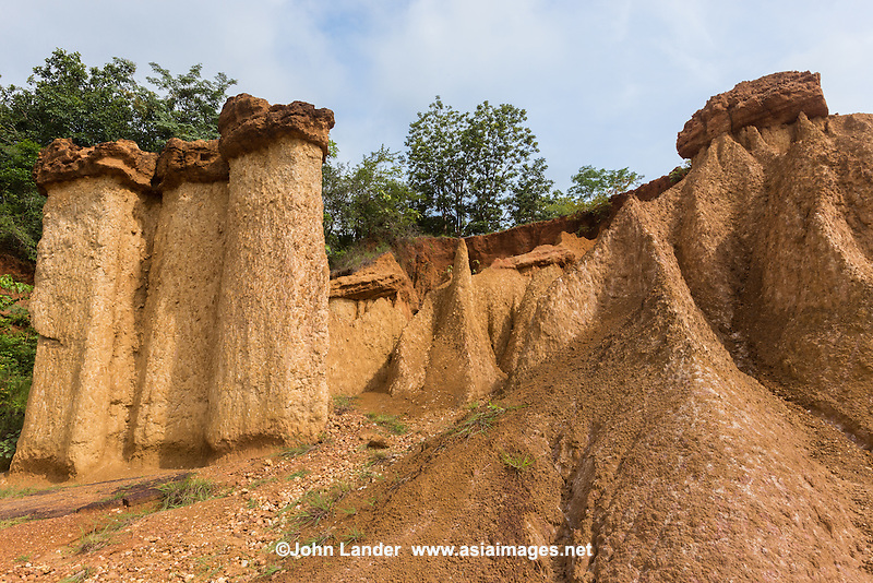"Phae Muang Phi Forest Park is known for its sandstone formations. Its Thai name means ""city of ghosts"".  The soil and sandstone erosion has produced spectacular natural rock formations that resemble giant mushrooms, chimneys and pillars, some of which are 20 meters high. <br /> Phae Muang Phi is considered as Thailand's Grand Canyon"