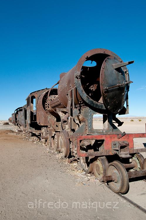 Train Cementery outside of Uyuni village, Salar de Uyuni