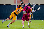 Los Angeles, CA 02/15/14 - Hunter Irvin (Stanford #3) and Brian Braasch (Arizona State #29)