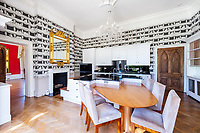 BNPS.co.uk (01202 558833)<br /> Pic: AndyScott/Savills/BNPS<br /> <br /> PICTURED: There is also a modern kitchen breakfast area.<br /> <br /> A stunning castellated mansion has emerged for sale for £3.75.<br /> <br /> Grade II-listed Worth Hall near Crawley, West Sussex, dates back to the 1840s and is the perfect home for living a luxurious family life.<br /> <br /> It has seven bedrooms, seven bathrooms and five reception areas as well as a billiards room, a cinema and a swimming pool.