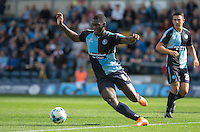 Aaron Pierre of Wycombe Wanderers in action during the Sky Bet League 2 match between Wycombe Wanderers and Plymouth Argyle at Adams Park, High Wycombe, England on 12 September 2015. Photo by Andy Rowland.