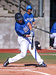 Wildcats' Austin Andrews bats in a college baseball game at Western Nevada College in Carson City, Nev., on Thursday, March 5, 2015. <br /> Photo by Cathleen Allison/Nevada Photo Source