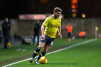 Alex MacDonald of Oxford United in action during the Johnstone's Paint Trophy Southern Final 2nd Leg match between Oxford United and Millwall at the Kassam Stadium, Oxford, England on 2 February 2016. Photo by Andy Rowland / PRiME Media Images.