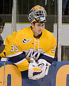 Joe Cannata (Merrimack - 35) - The Merrimack College Warriors defeated the Boston College Eagles 5-3 on Sunday, November 1, 2009, at Lawler Arena in North Andover, Massachusetts splitting the weekend series.