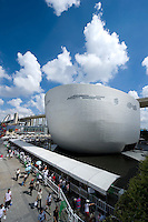 Visitors wait in line to access Finland's Pavilion, on Shanghai World Expo 2010 site, in Shanghai, China, on September 19, 2010. Photo by Lucas Schifres/Pictobank