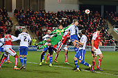 15/03/2016 Sky Bet League 1 Fleetwood Town v Walsall<br /> Neil Etheridge clears for Walsall