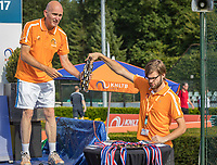 Etten-Leur, The Netherlands, August 27, 2017,  TC Etten, NVK, Game manager Jan van Helvert en Assistant Frank Bruggink at the prizegiving<br /> Photo: Tennisimages/Henk Koster