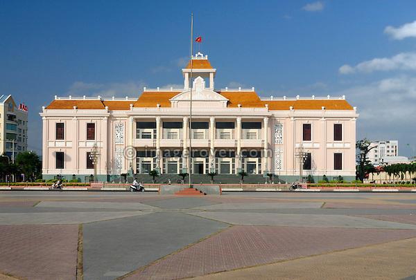 "Asia, Vietnam, Nha Trang. ""Nha Van Hoa"", Nha Trang's Vietnamese Cultural House located at the beach promenade Tran Phu."