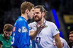 Milos Putera (SC DHfK Leipzig #C2) ; li: Joel Birlehm (SC DHfK Leipzig #35) beim Spiel in der Handball Bundesliga, TVB 1898 Stuttgart - SC DHfK Leipzig.<br /> <br /> Foto © PIX-Sportfotos *** Foto ist honorarpflichtig! *** Auf Anfrage in hoeherer Qualitaet/Aufloesung. Belegexemplar erbeten. Veroeffentlichung ausschliesslich fuer journalistisch-publizistische Zwecke. For editorial use only.