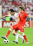 Christoph Leitgeb and Darius Dudka at Euro 2008. Austria-Poland 06122008, Wien, Austria