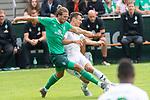07.07.2019, Parkstadion, Zell am Ziller, AUT, PSP SV WERDER BREMEN vs WSG SWAROVSKI TIROL<br /> <br /> im Bild / picture shows <br /> <br /> <br /> Niclas Füllkrug / Fuellkrug (Neuzugang Werder Bremen #11) FLORIAN MADER (WSG Tirol #42)<br /> <br /> Foto © nordphoto / Kokenge