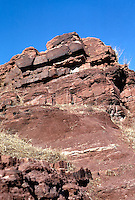 GEOLOGICAL FORMATIONS<br /> Clay strata and sandstone - Layered rock formation