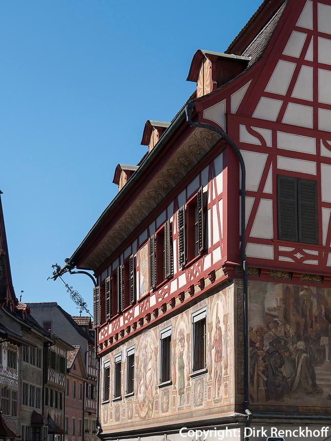 Altstadt in Stein am Rhein, Kanton Schaffhausen, Schweiz<br /> historic city in Stein am Rhein, Canton Schaffhausen, Switzerland