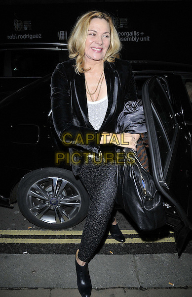 LONDON, ENGLAND - NOVEMBER 27: Kim Cattrall attends the &quot;Mikhail Baryshnikov: Dancing Away&quot; photography collection private view, Contini Art UK, New Bond St., on Thursday November 27, 2014 in London, England, UK. <br /> CAP/CAN<br /> &copy;Can Nguyen/Capital Pictures
