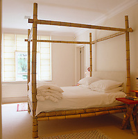 This bed has been placed in the direction which best suits the owner and is made of bamboo which symbolises Spring and renewal - good for marital happiness!