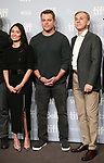 Hong Chau, Matt Damon and Christoph Waltz  attend the 'Downsizing' photo call during the 2017 Toronto International Film Festival at Tiff Lightbox on September 10, 2017 in Toronto, Canada.