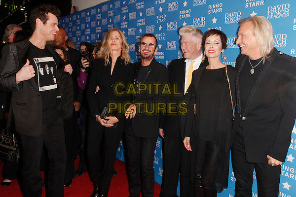 LOS ANGELES, CA - JANUARY 20: Jim Carrey, Barbara Bach, Ringo Starr, David Lynch, Marjorie Bach and Joe Walsh at the David Lynch Foundation honors Ringo Starr with the 'Lifetime Of Peace &amp; Love Award' held at the El Rey Theatre on January 20, 2014 in Los Angeles, California.  <br /> CAP/MPI/STA<br /> &copy;Star Shooter/MediaPunch/Capital Pictures