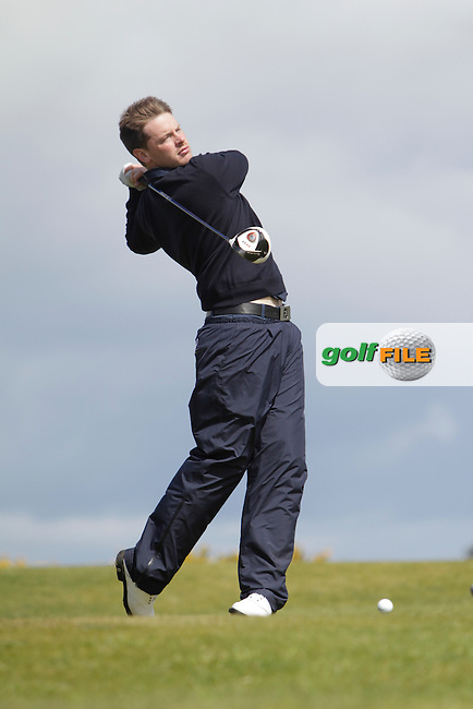 Gary McDermott (Carton House) on the 16th tee during Round 4 of The Irish Amateur Open Championship in The Royal Dublin Golf Club on Sunday 11th May 2014.<br /> Picture:  Thos Caffrey / www.golffile.ie