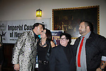 One Life To Live Lea Delaria poses with Gary Cosgrove, Lauri Michaels and Eric Alt at ICNY (Imperial Court of New York): Daytime Meets Nighttime Cabaret benefitting LifeBeat: Music Fights HIV and Jan Hus Neighborhood Church, two organizations giving back to the community at November 4, 2011 at the Jan Hus Playhouse Theatre, New York City, New York. (Photo by Sue Coflin/Max Photos)