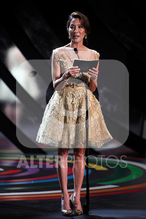 Michelle Yeoh  during the 61st San Sebastian International Film Festival's opening ceremony, in San Sebastian, Spain. September 20, 2013. (ALTERPHOTOS/Victor Blanco)