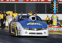 Feb. 14, 2013; Pomona, CA, USA; NHRA pro stock driver Roger Brogdon during qualifying for the Winternationals at Auto Club Raceway at Pomona.. Mandatory Credit: Mark J. Rebilas-